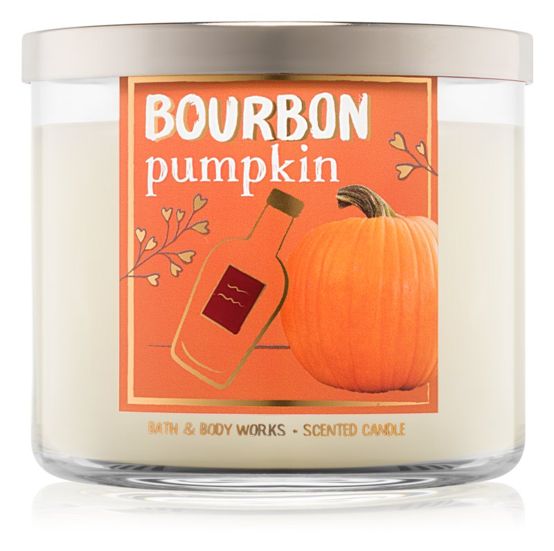 Bath & Body Works Bourbon Pumpkin bougie parfumée 411 g
