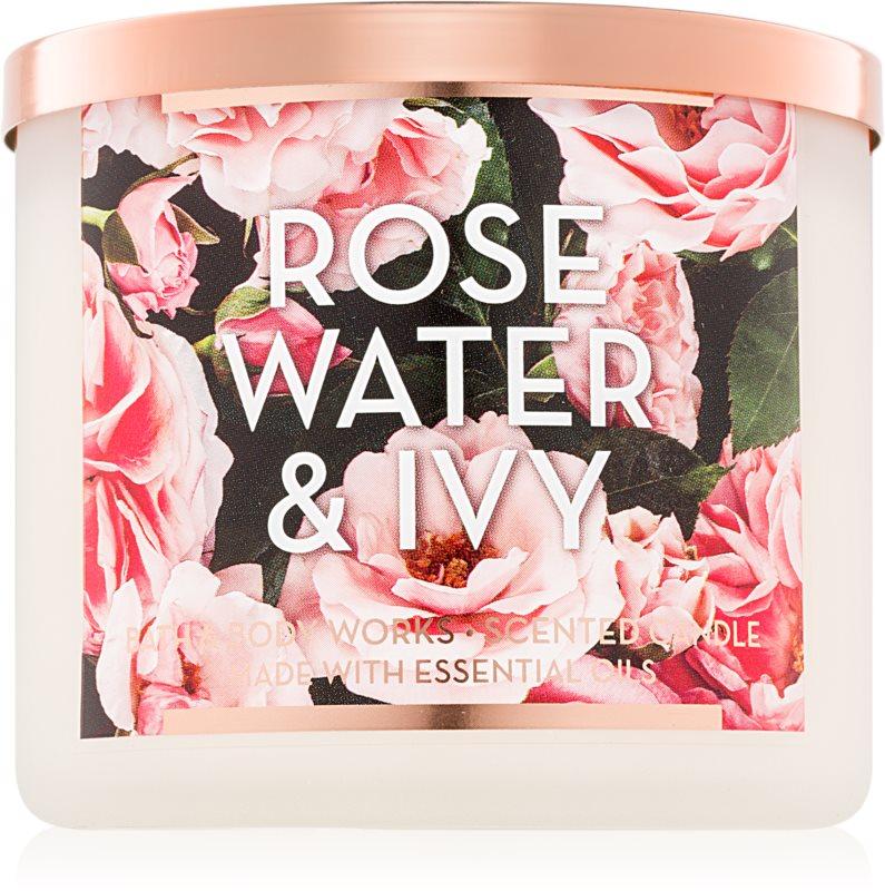Bath & Body Works Rose Water & Ivy illatos gyertya  411 g II.