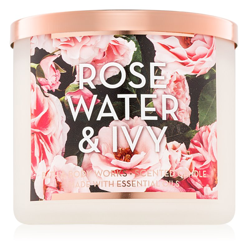 Bath & Body Works Rose Water & Ivy vonná sviečka 411 g II.