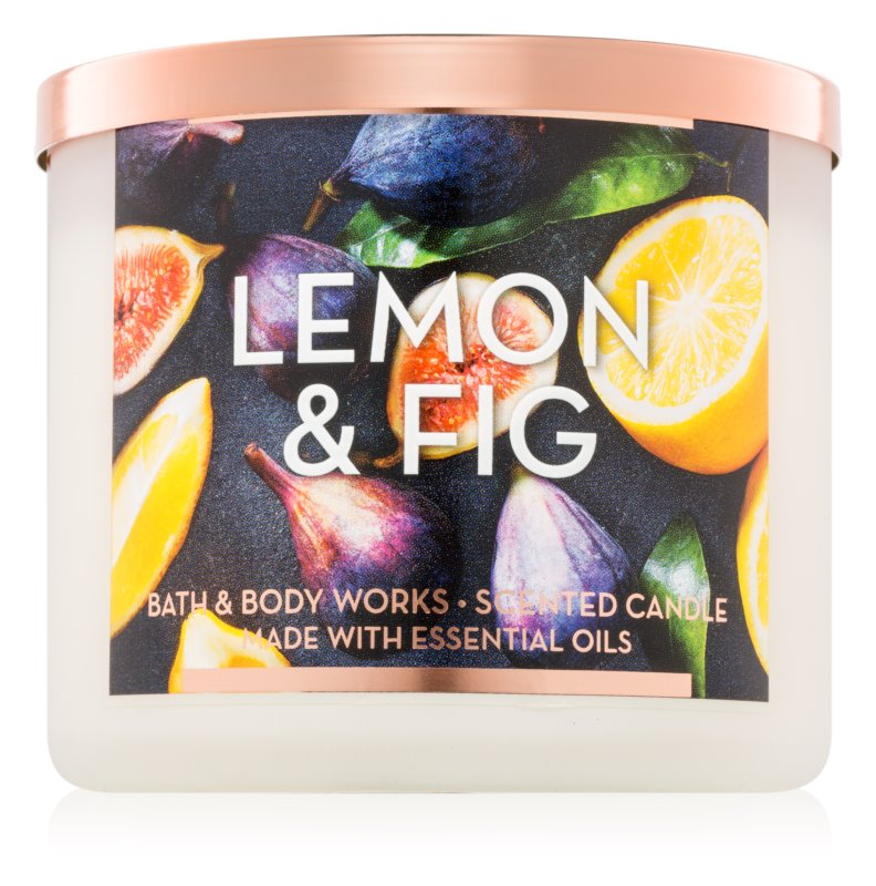 Bath & Body Works Lemon & Fig Duftkerze  411 g