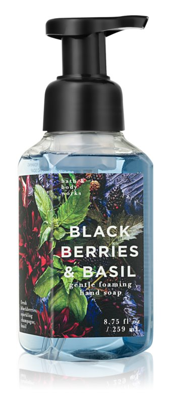 Bath & Body Works Black Berries & Basil hab szappan kézre