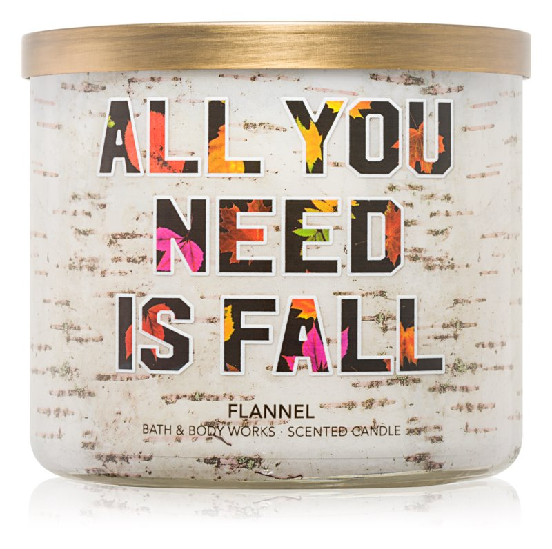 Bath & Body Works Flannel vela perfumado 411 g