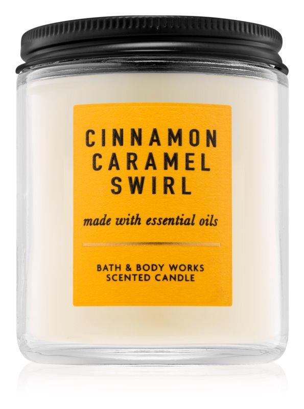 Bath & Body Works Cinnamon Caramel Swirl Geurkaars 198 gr I.