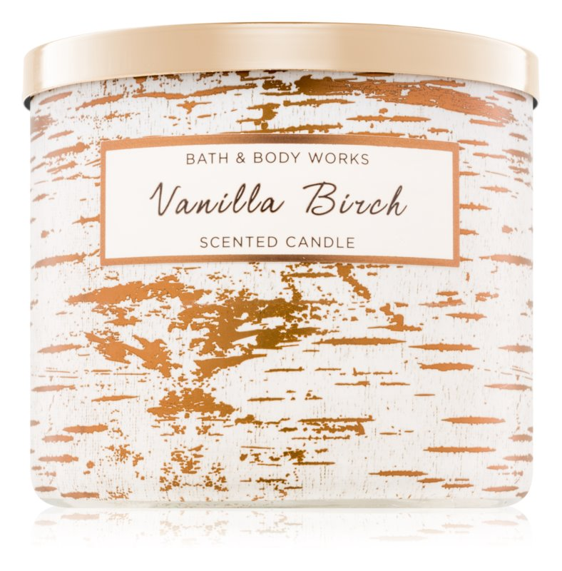 Bath & Body Works Vanilla Birch Geurkaars 411 gr