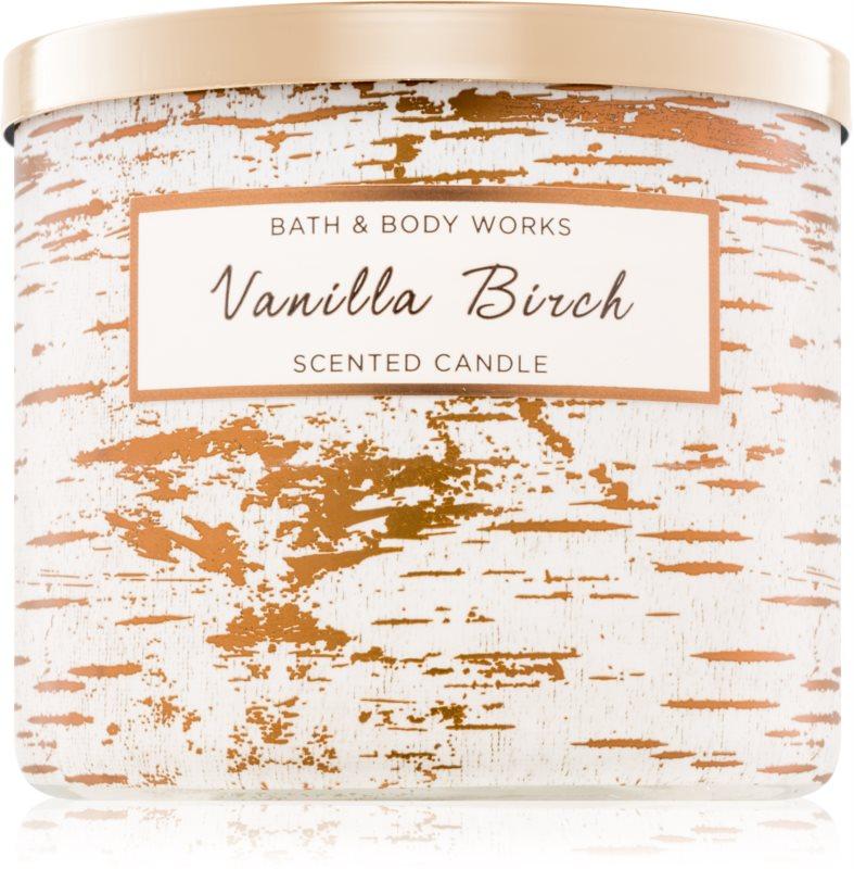 Bath & Body Works Vanilla Birch vonná svíčka 411 g
