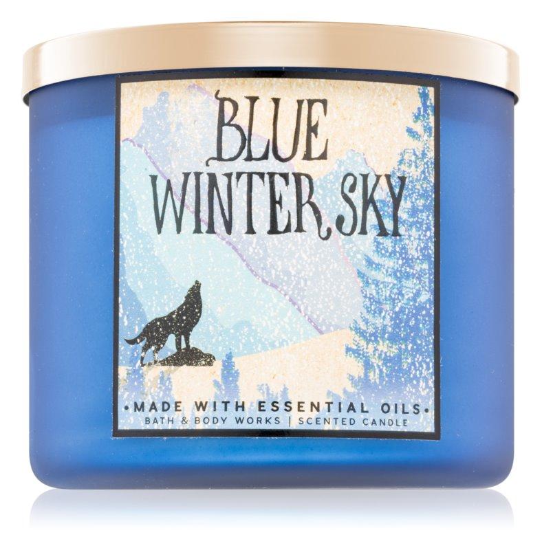 Bath & Body Works Blue Winter Sky Αρωματικό κερί αρωματικά σπιτιού 411 γρ
