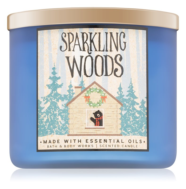 Bath & Body Works Sparkling Woods candela profumata 411 g