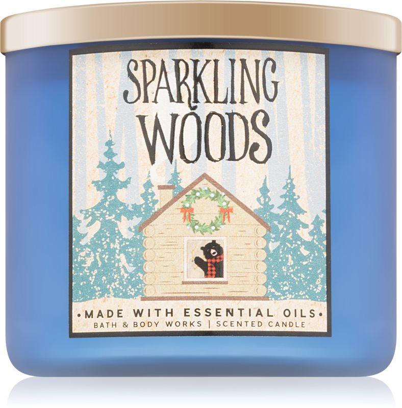 Bath & Body Works Sparkling Woods dišeča sveča  411 g