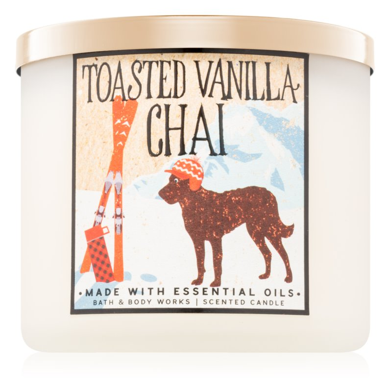 Bath & Body Works Toasted Vanilla Chai Geurkaars 411 gr