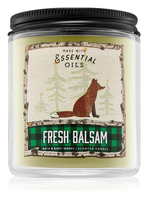 Bath & Body Works Fresh Balsam vonná sviečka 198 g