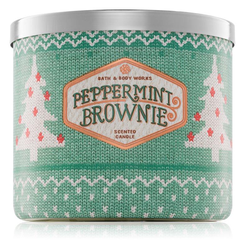 Bath & Body Works Peppermint Brownie vonná svíčka 411 g