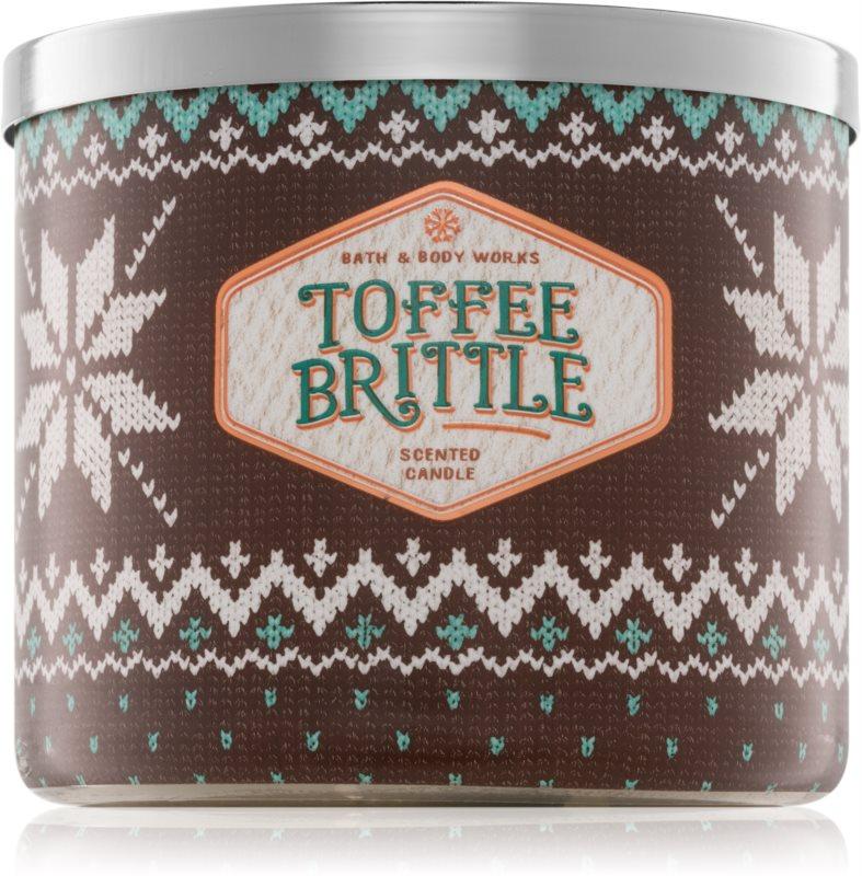 Bath & Body Works Toffee Brittle bougie parfumée 411 g