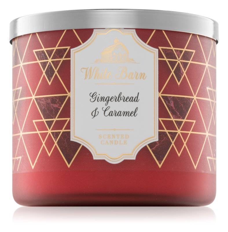 Bath & Body Works Gingerbread & Caramel vela perfumada  411 g