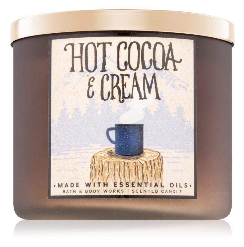 Bath & Body Works Hot Cocoa & Cream świeczka zapachowa  411 g II.