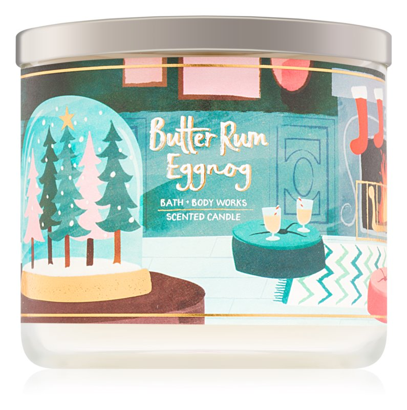 Bath & Body Works Butter Rum Eggnog dišeča sveča  411 g