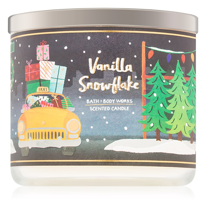 Bath & Body Works Vanilla Snowflake Scented Candle 411 g