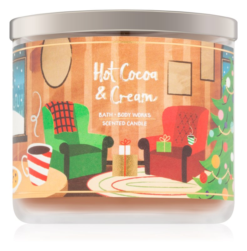 Bath & Body Works Hot Cocoa & Cream dišeča sveča  411 g V.