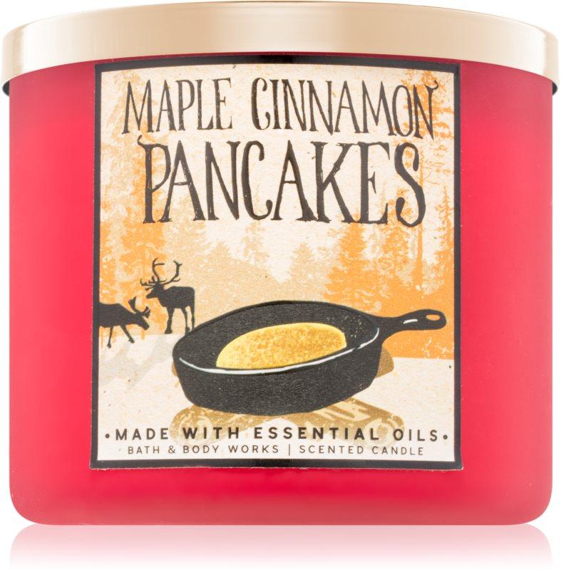 Bath & Body Works Maple Cinnamon Pancakes dišeča sveča  411 g
