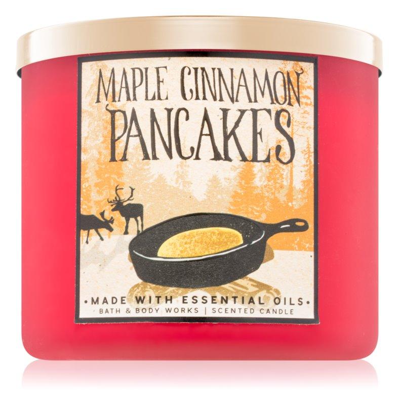 Bath & Body Works Maple Cinnamon Pancakes vonná sviečka 411 g