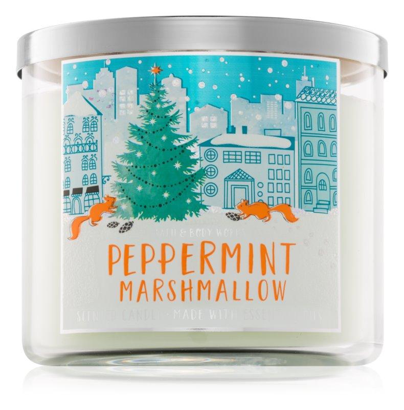 Bath & Body Works Peppermint Marshmallow vonná svíčka 411 g
