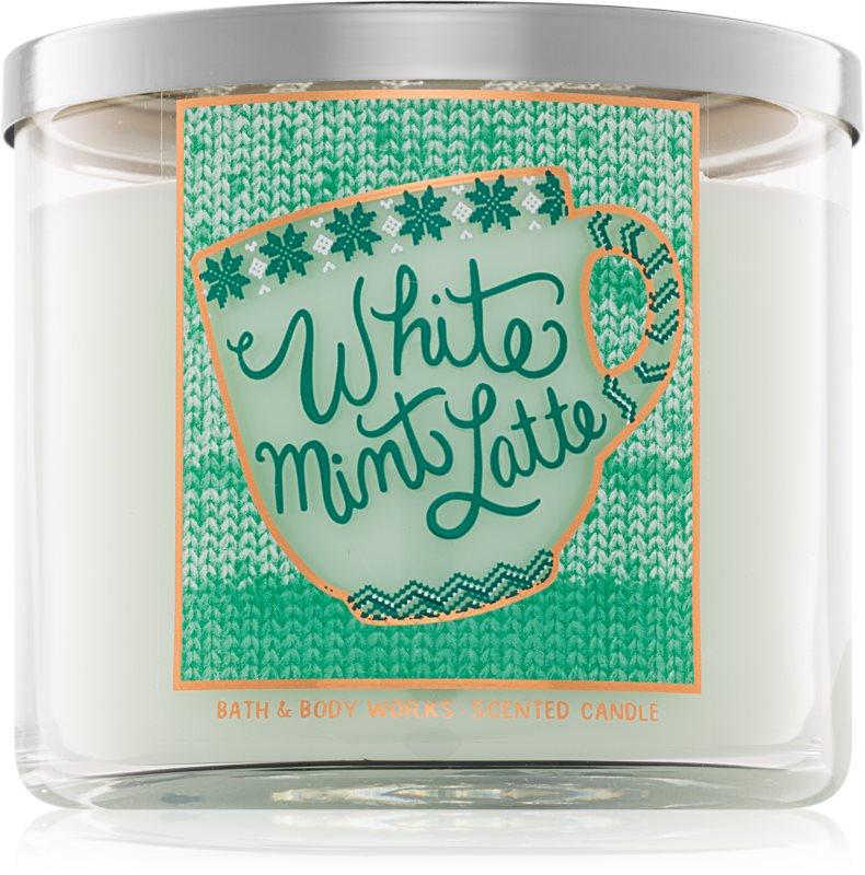 Bath & Body Works White Mint Latte Geurkaars 411 gr I.