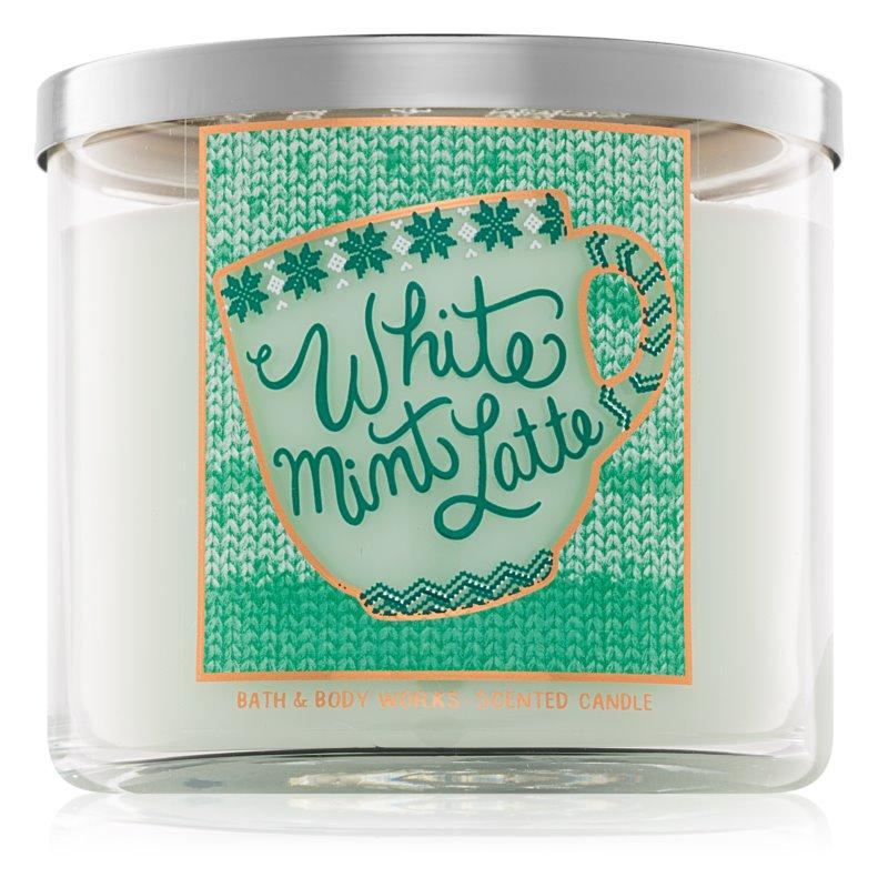 Bath & Body Works White Mint Latte vonná svíčka 411 g I.