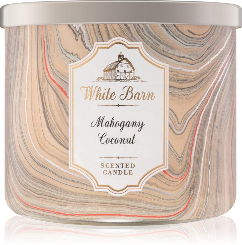 Bath & Body Works White Barn Mahogany Coconut candela profumata   I.