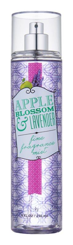 Bath & Body Works Apple Blossom & Lavender tělový sprej pro ženy 236 ml