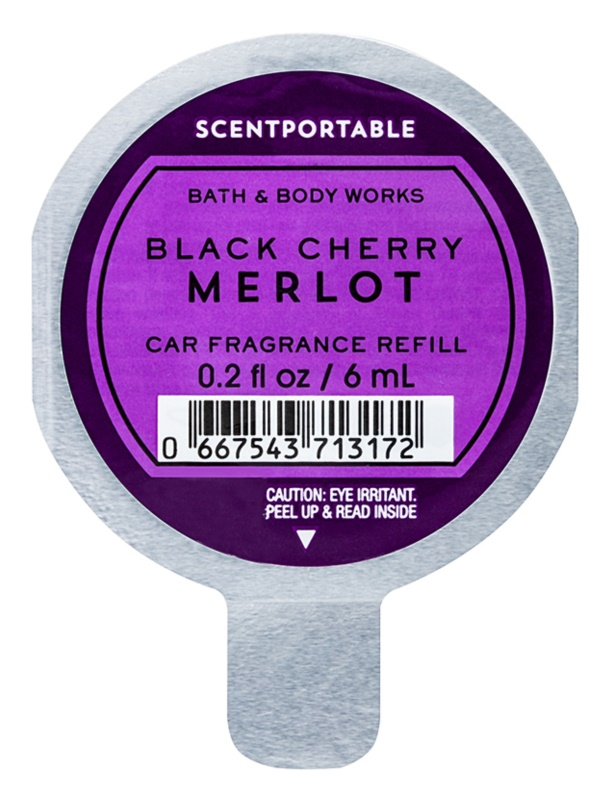 Bath & Body Works Black Cherry Merlot parfum pentru masina 6 ml Refil