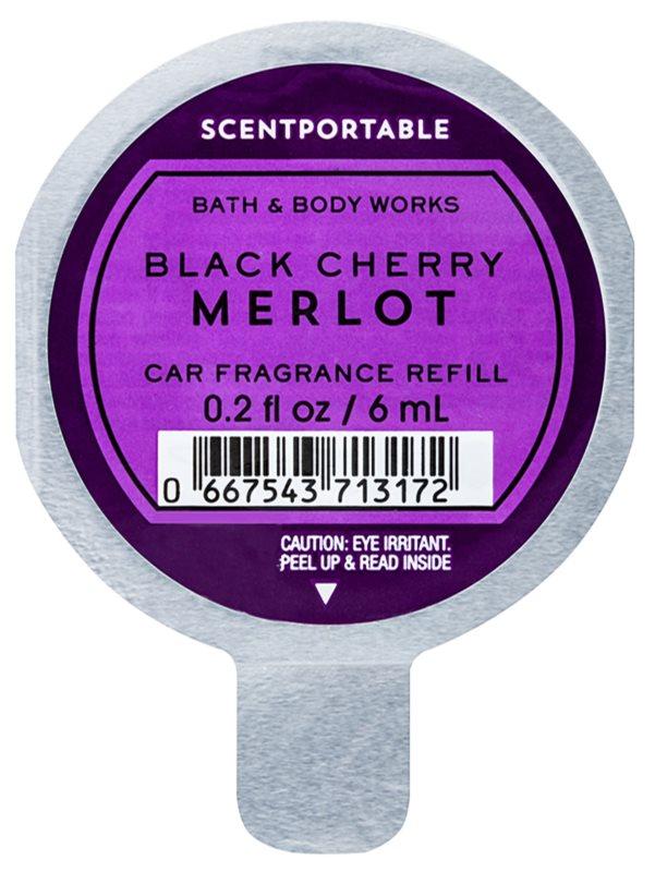 Bath & Body Works Black Cherry Merlot vôňa do auta 6 ml náhradná náplň
