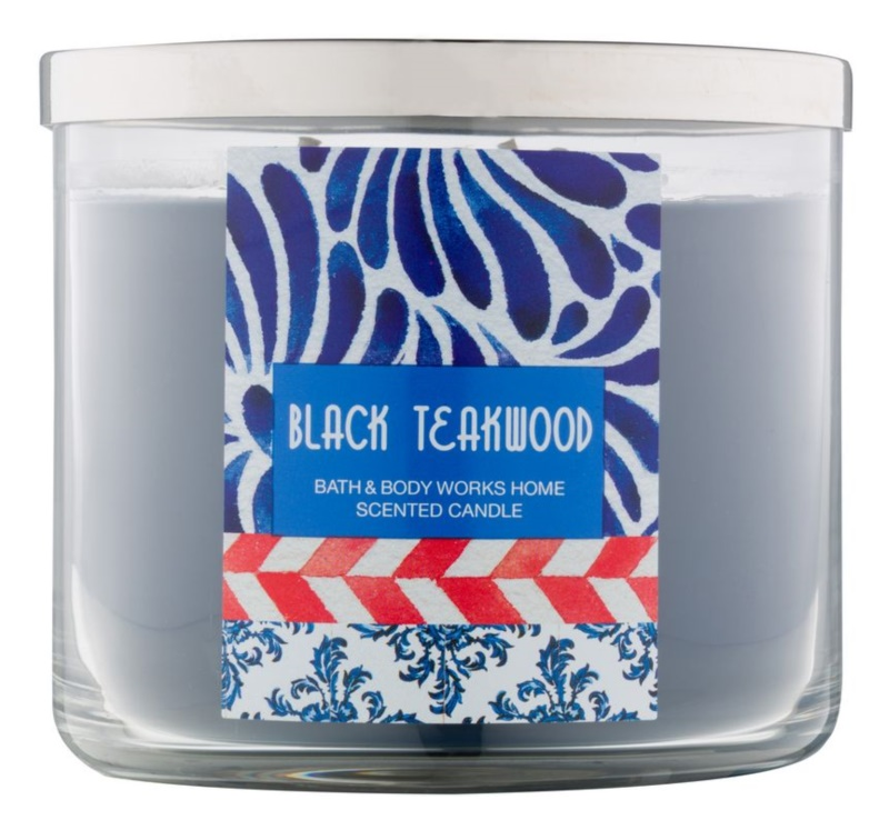 Bath & Body Works Black Teakwood illatos gyertya  411 g