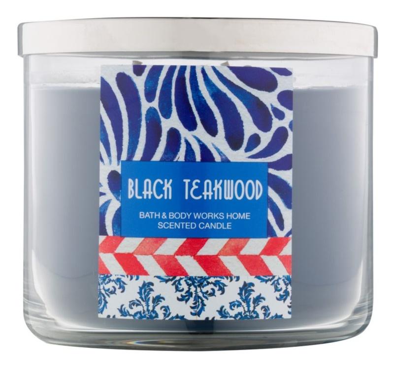 Bath & Body Works Black Teakwood vonná svíčka 411 g
