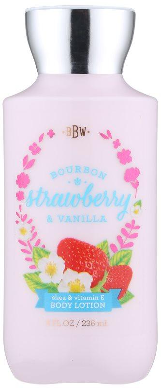 Bath & Body Works Bourbon Strawberry & Vanilla Körperlotion für Damen 236 ml