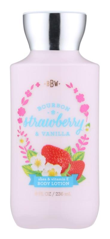 Bath & Body Works Bourbon Strawberry & Vanilla lapte de corp pentru femei 236 ml