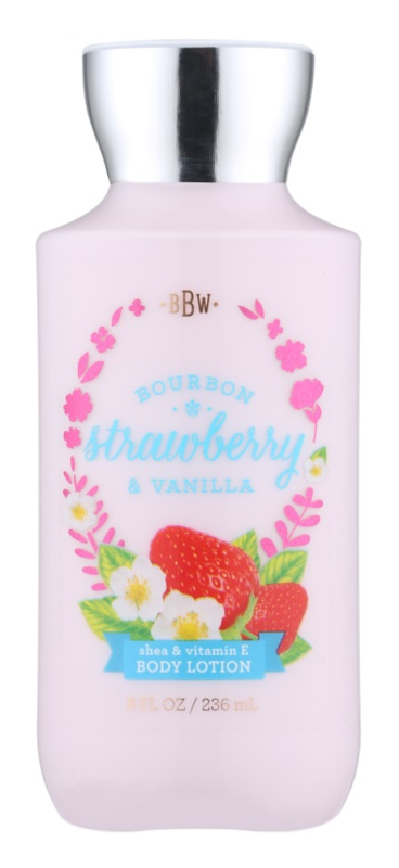 Bath & Body Works Bourbon Strawberry & Vanilla telové mlieko pre ženy 236 ml