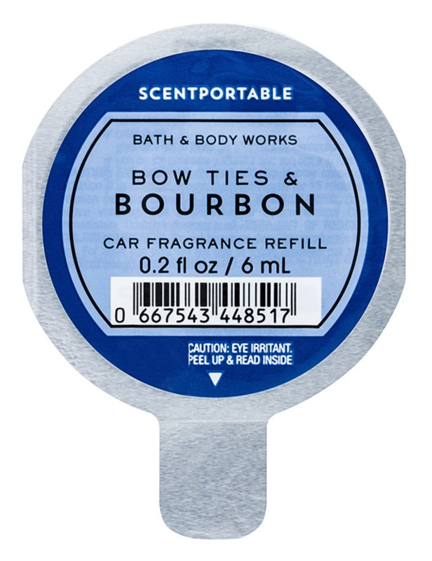 Bath & Body Works Bow Ties & Bourbon Deodorante per auto 6 ml ricarica