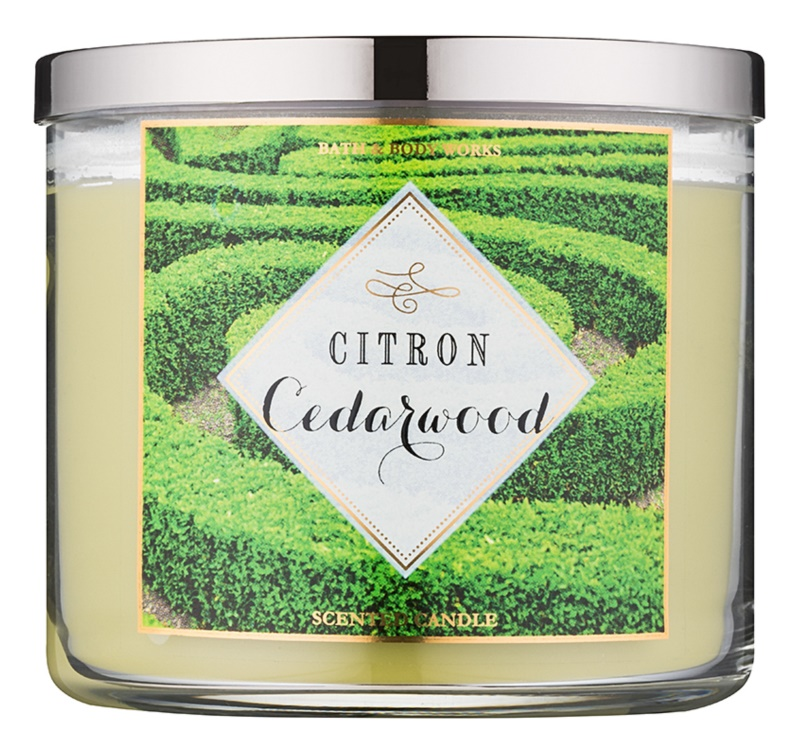 Bath & Body Works Citron Cedarwood lumânare parfumată  411 g
