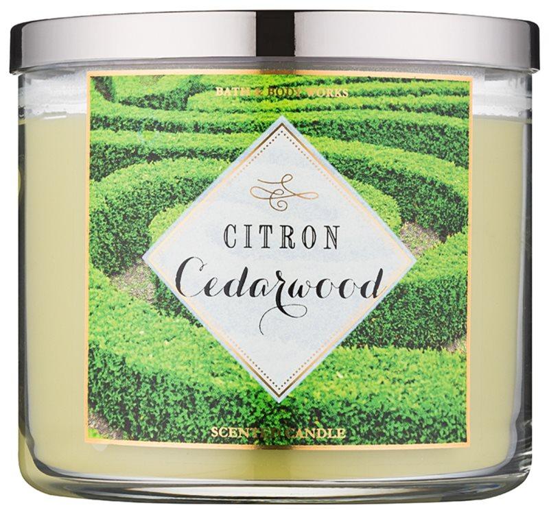 Bath & Body Works Citron Cedarwood lumanari parfumate  411 g