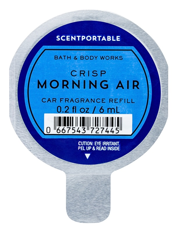 Bath & Body Works Crisp Morning Air Auto luchtverfrisser  6 ml Vervangende Vulling