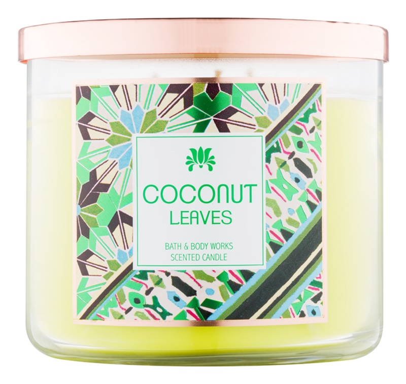 Bath & Body Works Coconut Leaves lumanari parfumate  411 g