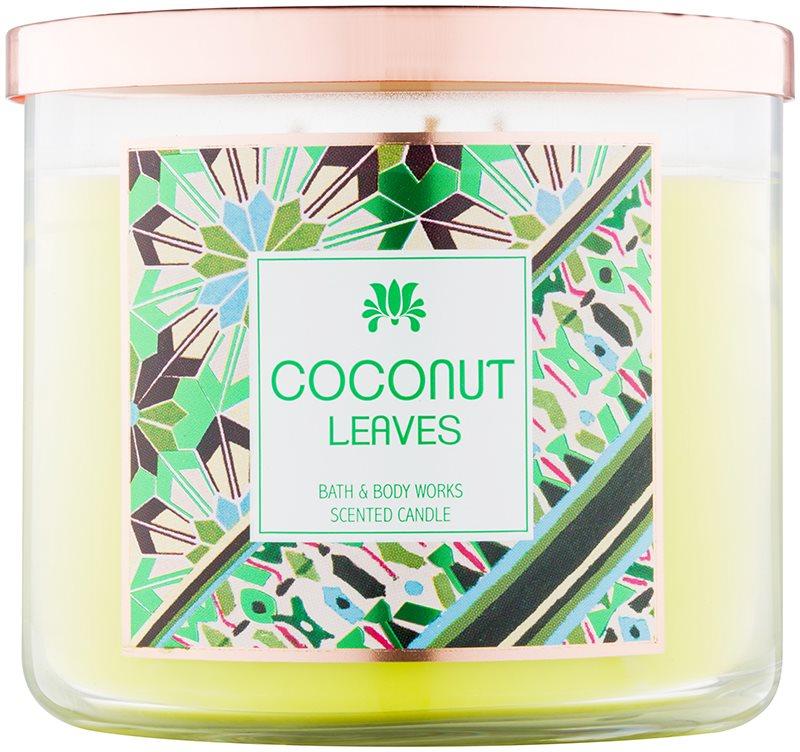 Bath & Body Works Coconut Leaves vonná sviečka 411 g