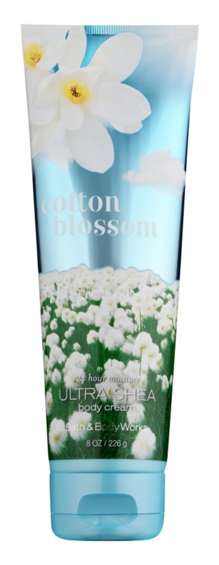 Bath & Body Works Cotton Blossom Körpercreme für Damen 226 ml