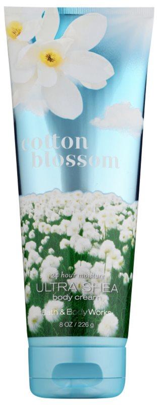 Bath & Body Works Cotton Blossom tělový krém pro ženy 226 ml