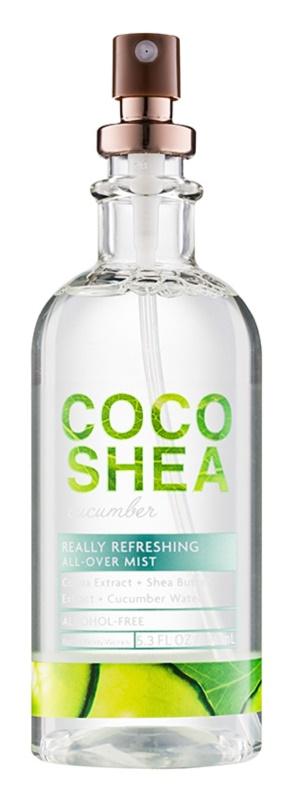 Bath & Body Works Cocoshea Cucumber telový sprej pre ženy 156 ml