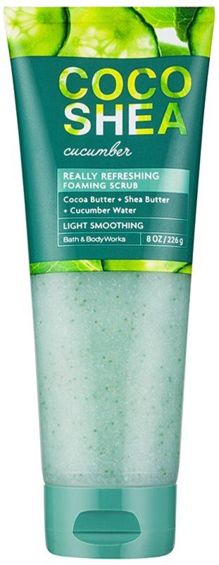 Bath & Body Works Cocoshea Cucumber tělový peeling pro ženy 226 g