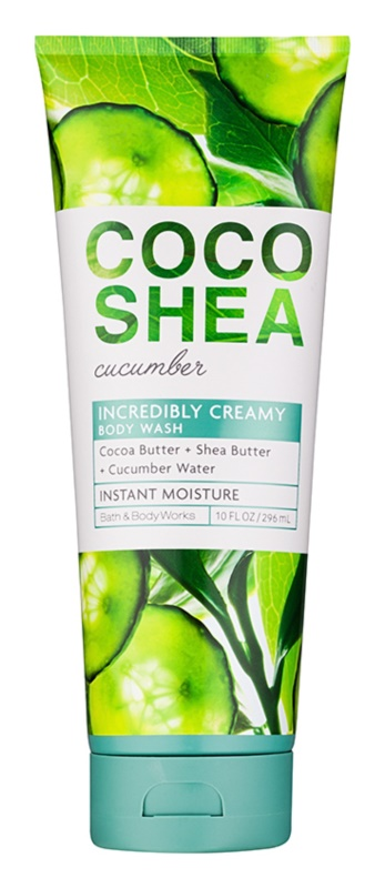 Bath & Body Works Cocoshea Cucumber gel za prhanje za ženske 296 ml