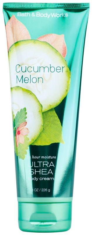 Bath & Body Works Cucumber Melon krema za telo za ženske 226 g s karitejevim maslom