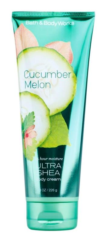 Bath & Body Works Cucumber Melon tělový krém pro ženy 226 g s bambuckým máslem