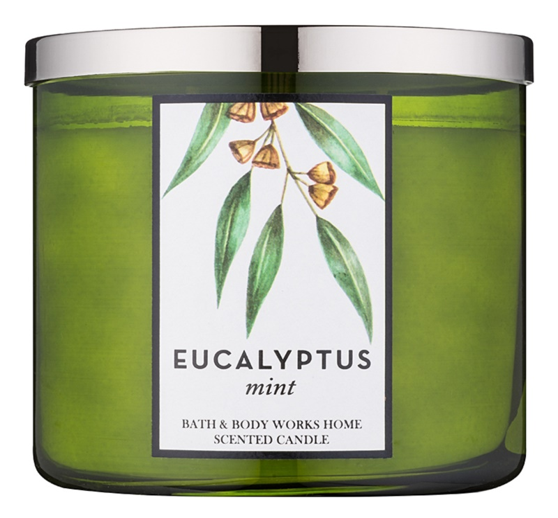 Bath & Body Works Eucalyptus Mint dišeča sveča  411 g