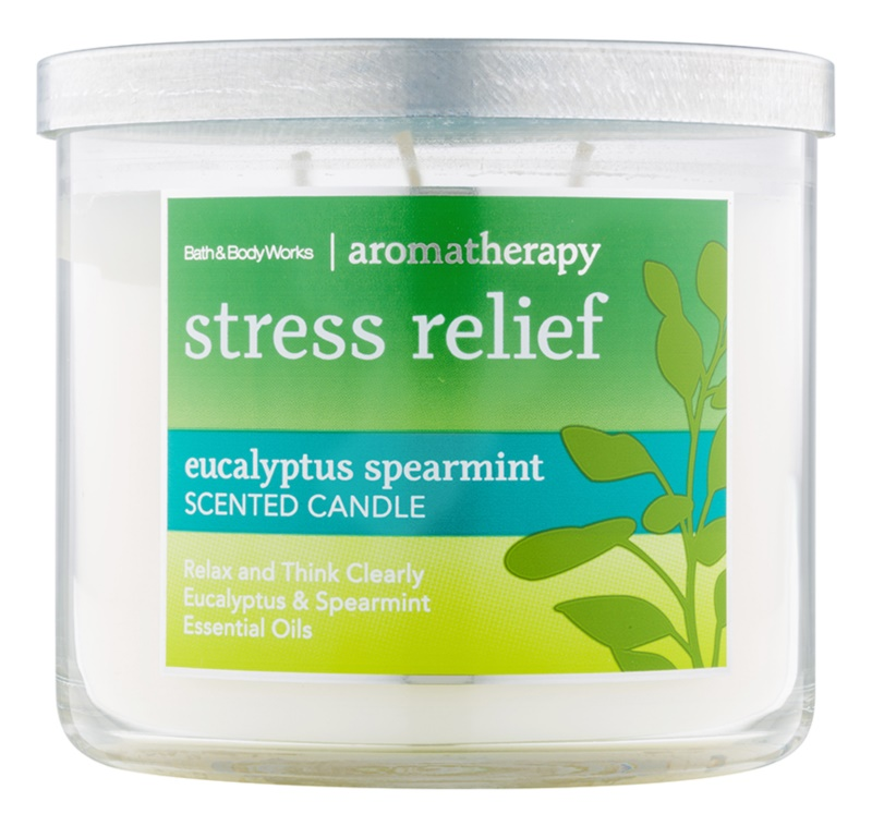 Bath & Body Works Stress Relief Eukalyptus Spearmint vonná svíčka 411 g